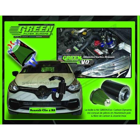 Kit filtre à air Green pour Renault Clio 4 RS