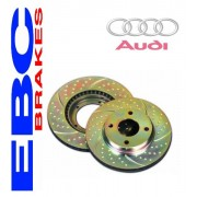 Disque grove EBC rainuré pointé pour Audi