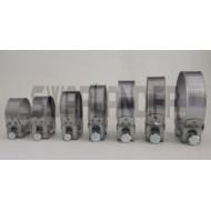 Collier inox renforcé t-bolt pour durite silicone diam 54 à 62 mm