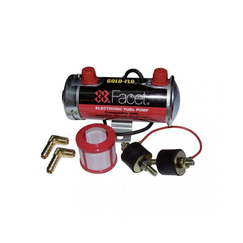 pompe essence basse pression externe facet red top avec raccords 10mm. Black Bedroom Furniture Sets. Home Design Ideas