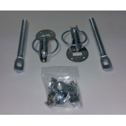 Attache capot à goupilles Dakar acier/inox QSP