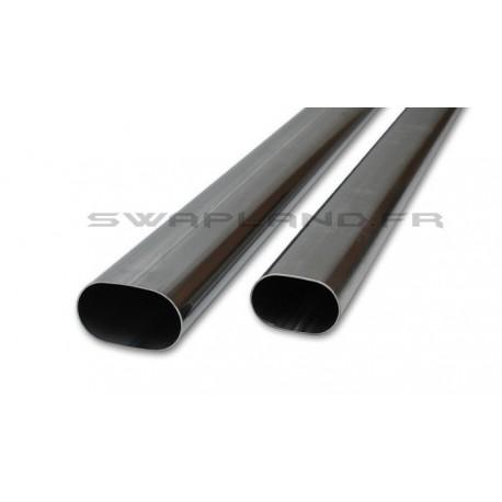 Tubes inox oval plat 1.50 mètre