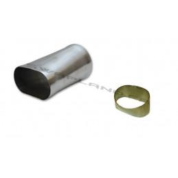 tube inox ovale rond pour système d'échappement