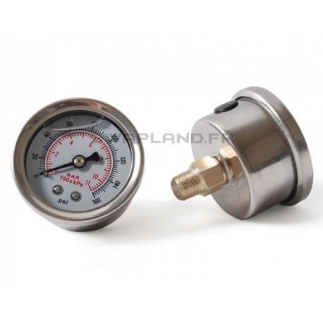 Manomètre de pression d'essence à glycérine